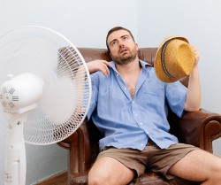 Your apartment<br />heats in summer?